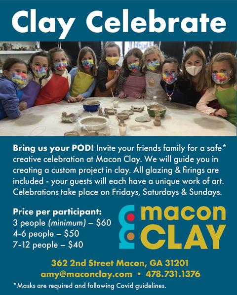 Macon Clay Celebrations